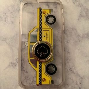 Kate Spade iPhone 7/8 Taxi Case with ring stand.